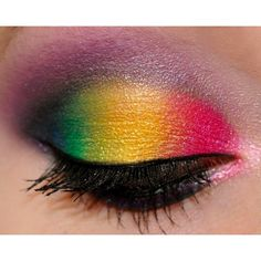 Playdate- Rainbow Eyes from IMATS Vancouver xSparkage ❤ liked on Polyvore featuring beauty products, makeup, eyes, beauty, backgrounds and eye makeup