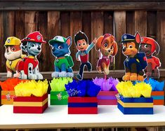 Paw patrol birthday theme - Paw Patrol Birthday Centerpieces for Birthday Candy Buffet or Paw Patrol Favors Table Wood Handcrafted Paw Patrol Theme Party INDIVIDUAL – Paw patrol birthday theme Paw Patrol Birthday Theme, Paw Patrol Party, Birthday Centerpieces, Centerpiece Decorations, Paw Patrol Centerpieces, Paw Patrol Decorations, Table Centerpieces, Birthday Decorations, Birthday Candy