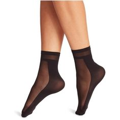 Wolford Dari Sheer Insert Socks ($29) ❤ liked on Polyvore featuring intimates, hosiery, socks, black, sheer socks, sheer nylon socks, wolford socks, wolford and sheer hosiery