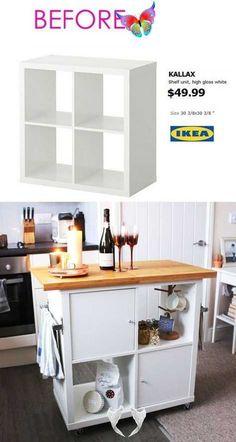 20+ Smart og nydelig Ikea Hacks (og gode opplæringsprogrammer) - Lilly is Love 20+ Smart og nydelig Ikea Hacks (og gode opplæringsprogrammer), 20+ Smart og nydelig IKEA-hacks: Spar tid og penger med funksjonelle design og vakre transformasjoner. Flotte ideer for alle rom som IKEA hack-seng, s...,  #gode #Hacks #Ikea<br> 20+ Smart og nydelig IKEA-hacks: Spar tid og penger med funksjonelle design og vakre transformasjoner. Flotte ideer for alle rom som IKEA hack-seng, skrivebord, kommoder… Kitchen Island Ikea Hack, Dresser Kitchen Island, Ikea Kitchen, Kitchen Islands, Kitchen Ideas, Ikea Island, Kitchen Furniture, Kitchen Hacks, Design Kitchen