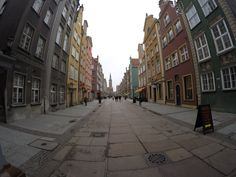 Beautiful street down the old town in Gdansk. #explore