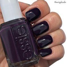 "Grab the @essiepolish fall collection! ""Kimono Over"" is the perfect dark purple shade to kick off the new season ✨"