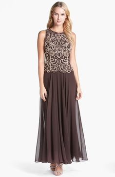 Another good mother of the bride dress.   J Kara Beaded Mock Two-Piece Dress available at #Nordstrom