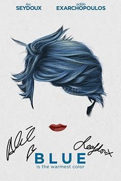 BLUE IS THE WARMEST COLOR MOVIE POSTER FILM A4 A3 ART PRINT CINEMA