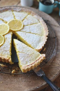 Crunchy shortbread tart with creamy lemon buttermilk filling. Wonderfully lemony and so easy to bake. Save recipe now! Crunchy shortbread tart with creamy lemon buttermilk filling. Wonderfully lemony and so easy to bake. Save recipe now! Ice Cream Recipes, Food Cakes, Yummy Cakes, Dessert Recipes, Cupcake Recipes, Baking, Quiche, Sweets, Blueberry Scones