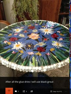 Mosaic table                                                                                                                                                     More