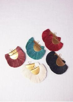 """Bronze & Silk earrings by Hazel Cox 2.5"""" wide and 2.5"""" long Available in 5 colors Made in Portland"""