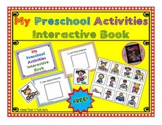 FREE.....Introduce vocabulary for frequent preschool classroom activities.