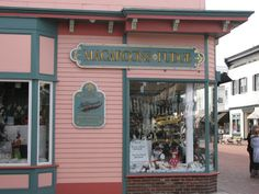 Une autre place incontournable : le magasin de fudge de Cape May.