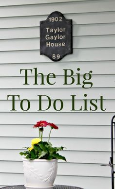 This is a list of items on our restoration checklist. I'll continue to update it as we move forward. To see our House Tour, click here!
