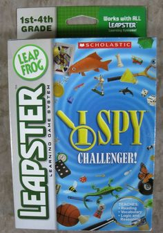 Scholastic I Spy Challenger Game for Leapster/Leapster2 LeapFrog 2005 New In Box #LeapFrog