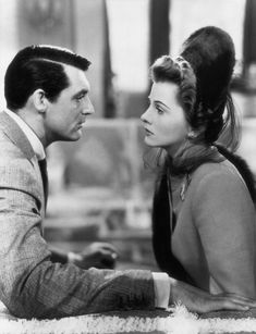 Joan Fontaine and Cary Grant in Suspicion, 1941