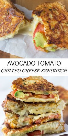 Avocado Tomato Grilled Cheese Sandwich - the ultimate grilled cheese sandwich!