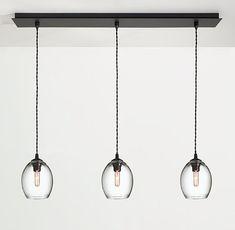 Swift Hand-blown Glass Pendant Lights, Row of Three - Modern Lighting - Modern Lighting - Room & Board