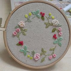 Hand Embroidery Stitches, Ribbon Embroidery, Embroidery Art, Cross Stitch Embroidery, Embroidery Patterns, Cross Stitch Patterns, Embroidered Flowers, Cross Stitching, Needlework