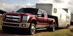 King Ranch Ford dually and horse trailer with living quarters