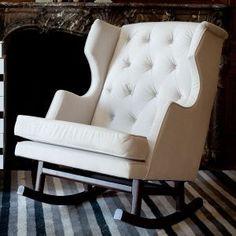 Modern Nursery Rocking Chair by Nurseryworks....very cute for a nursery...or living room