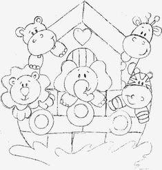 30 desenhos, moldes e riscos da Arca de Noé para colorir, pintar, imprimir! - Espaço Educar desenhos para colorir