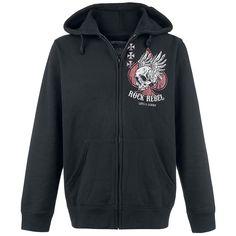 Long Road Down - Sweat-shirt zippé à capuche par Rock Rebel by EMP