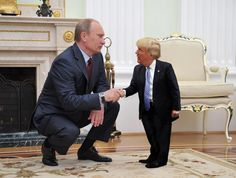 'Tiny Trump' is What the World Needs Right Now Trump Picture, Trump Photo, Satire, Tiny Trump, Donald Trump, Wladimir Putin, Funny Memes, Hilarious, People Having Fun