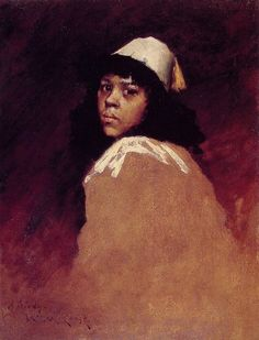 """William Merritt Chase: """"The Moroccan Girl"""", Oil on canvas, Private collection."""