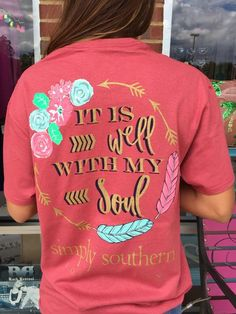"""Simply Southern """"It Is Well With My Soul"""" Tee - Rust"""