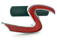 Red S Logo Car Front Grill Badge for Mini Cooper S JCW Car Grille Hood Emblem