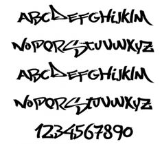 Graffiti Alphabet Letters Font Style Characters2