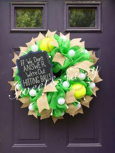 Softball/Golf Wreath