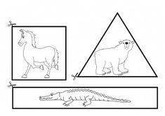 рязане на работни листове животни и форми (2)