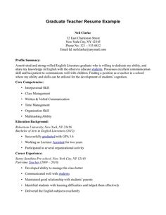 sample resume graduate teachers resumes teacher sle find your best samples