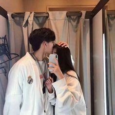 Couple, ulzzang, and asian image Couple Ulzzang, Ulzzang Girl, Style Outfits, Couple Outfits, Relationship Goals Pictures, Cute Relationships, Couple Relationship, Cute Couples Goals, Couple Goals