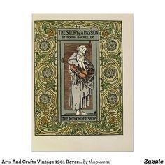 Arts And Crafts Vintage 1901 Roycroft Poster