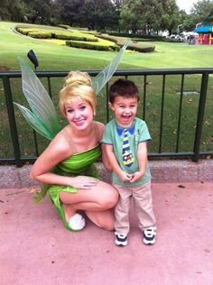 What a don. Scored a picture with Tinkerbell and came well dressed.