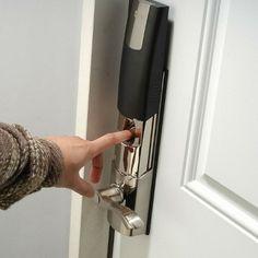 Biometric Deadbolt Lock. Unlock Your Door By Placing Your Finger On The  Scanner.