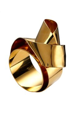 Sculptural Ribbon Cuff by Vionnet