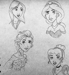 Sketches of some of my favourite Disney princess ---#disney #elsa #cinderella #frozen #art #drawing #sketch #followme #cartoon http://misstagram.com/ipost/1567685742472349774/?code=BXBieB3gkhO