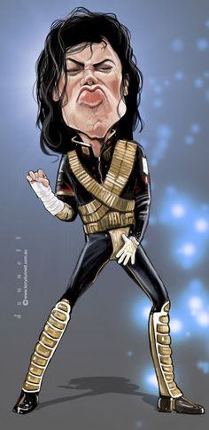 Michael Jackson #Caricature #FunnyFaces. 🌻 For more great pins go to @KaseyBelleFox