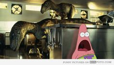 jurassic patrick I may be finding this way too funny