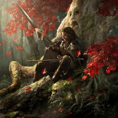 Eddard Stark at the The Godswood by Michael Komarck
