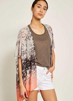 Meadow Printed Kimono Chiffon Kimono, Print Chiffon, Kimono Top, Summer Clothes, Summer Outfits, Fashion Dresses, Mint, Velvet, Printed