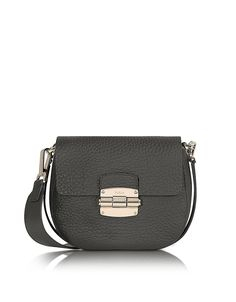 FURLA WOMEN'S 834702ONYX BLACK LEATHER SHOULDER BAG. #BestPrice !