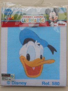 Disegni per ricamo - Kit Ricamo a Mezzo Punto Disney Paperino - un prodotto unico di raffasupplies su DaWanda