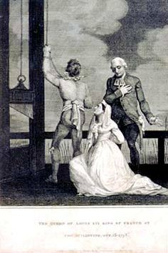 Image result for marie antoinette at guillotine
