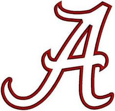font alabama a for silhouette photo of the university of alabama rh pinterest com Large Alabama a Logo alabama crimson tide logo font