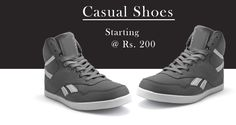 Largest Range of Men's Casual #Footwear. Price at Rs 200.  >> http://hytrend.com/men/shoes/casual-shoes.html