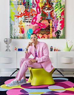 Karim Rashid, Painting Inspiration, Interior Inspiration, Design Inspiration, Arte Pop, Estilo Kitsch, Tableau Pop Art, Pop Art Decor, Pop Art Colors