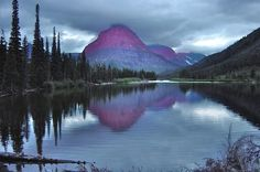 10. These purple mountain majesties at Glacier National Park.