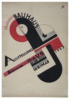 #Poster #Bauhaus #Exhibition in #Weimar 1923, by #Joost #Schmidt. Bauhaus-Archiv #Berlin