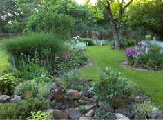 My dream for my backyard...with a pond in the corner...ahhh